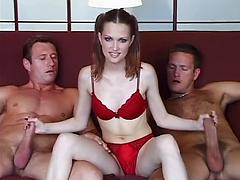 Young Lucie first pro porn video