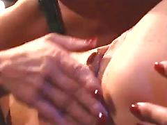 Rough Lesbo Play With Wax And Toy Fucking