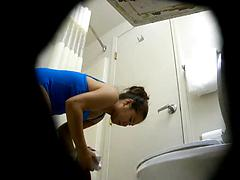 Spy Cam In A Bathroom Recording Two Ladies Using It