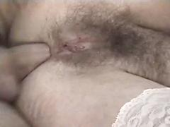 Sexy Brunette Granny Gets Her Asshole Boned