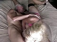 Blonde With Balls Sucks And Fucks Old Man