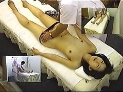 Girl On Massage Table Getting Her Pussy Fingered
