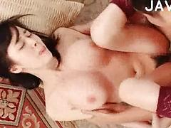 Cute Asian Cunt Getting Her Big Tits Rubbed