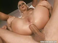 Blonde nurse kathy anderson needs an emergency protein injection.