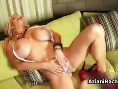 Blonde mature babe with big tits loves part 1