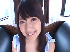 Amative Asian sweetie shows off her outstanding riding skills