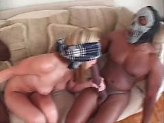 Big Boobs White Girl Ready To Fuck With Two Guys